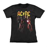 Baby look ACDC - Iron Man
